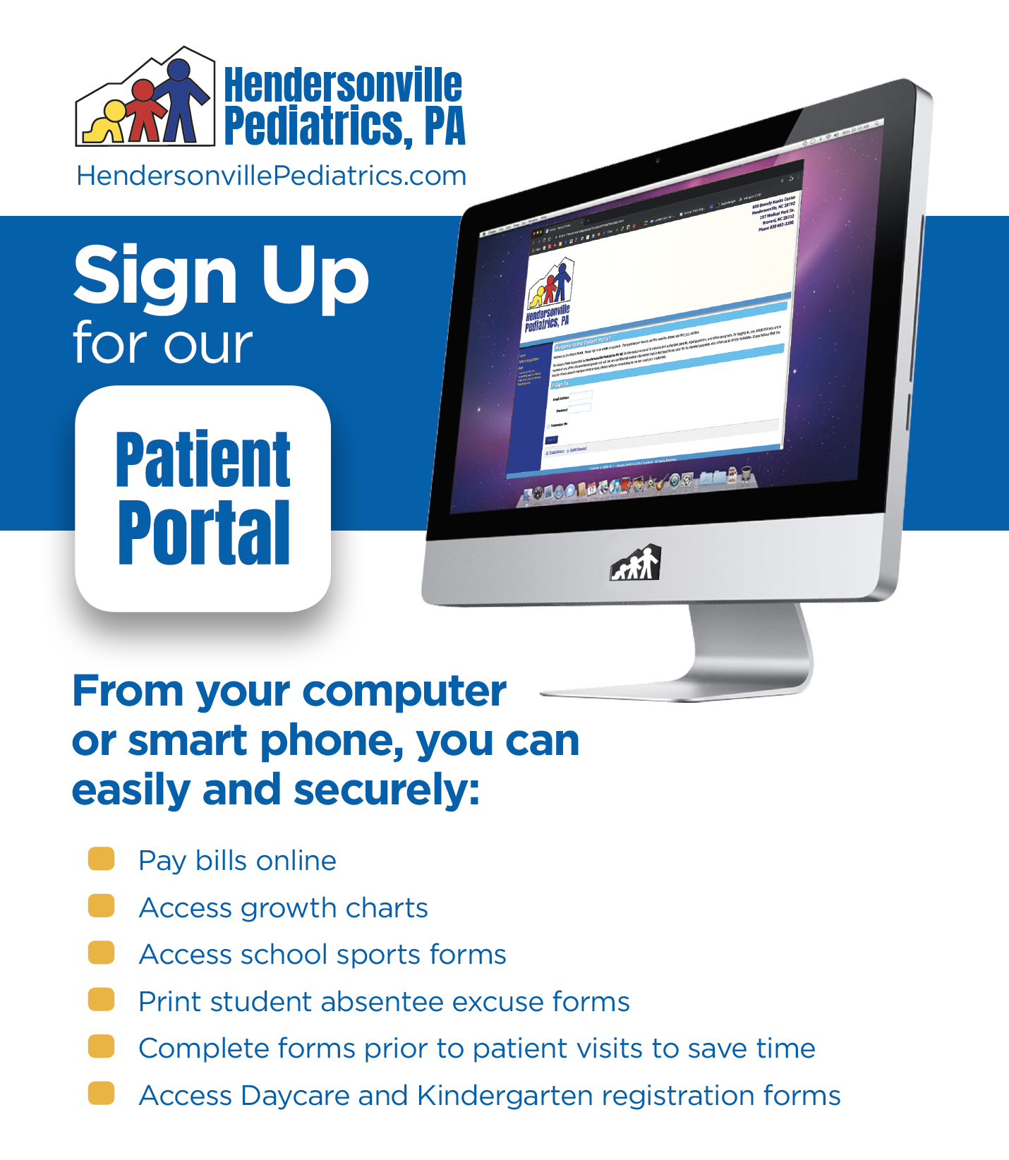 HPEDS patient portal new